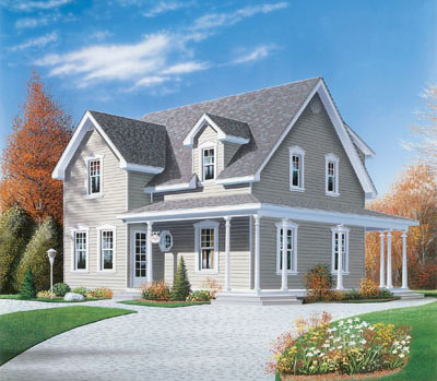 Country Style Home Design Plan: 5-271