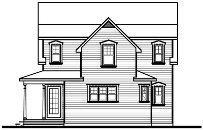 Rear Elevation Plan: 5-271