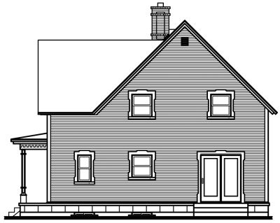 Rear Elevation Plan: 5-272