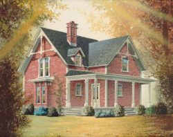 Country Style Home Design Plan: 5-272