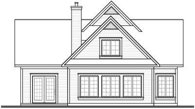 Rear Elevation Plan: 5-275