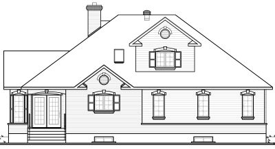 Rear Elevation Plan: 5-276