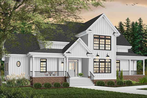 Country Style Home Design Plan: 5-279