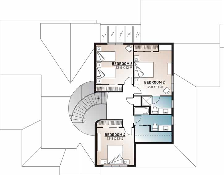 Upper/Second Floor Plan: 5-279
