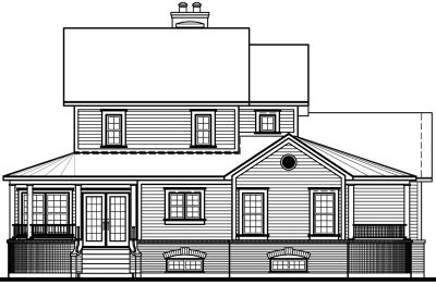 Rear Elevation Plan: 5-280