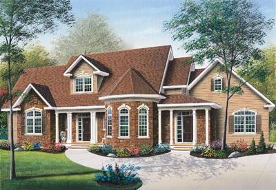 Traditional Style House Plans Plan: 5-281