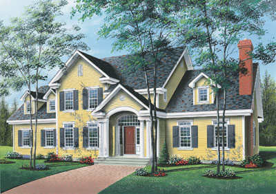 Colonial Style Floor Plans Plan: 5-282