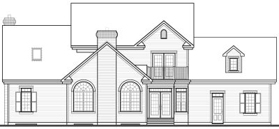 Rear Elevation Plan: 5-282