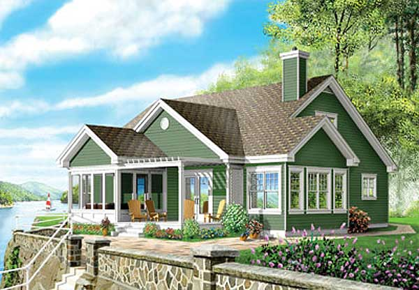 Country Style House Plans Plan: 5-284