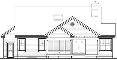 Rear Elevation Plan: 5-284