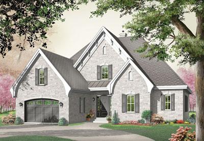 European Style House Plans Plan: 5-285