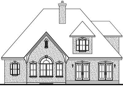 Rear Elevation Plan: 5-285