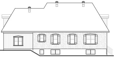 Rear Elevation Plan: 5-287