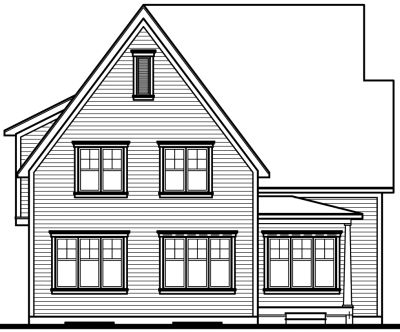 Rear Elevation Plan: 5-288