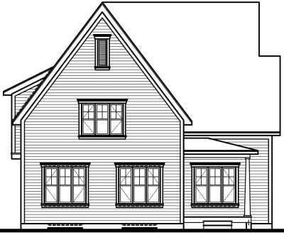 Rear Elevation Plan: 5-289