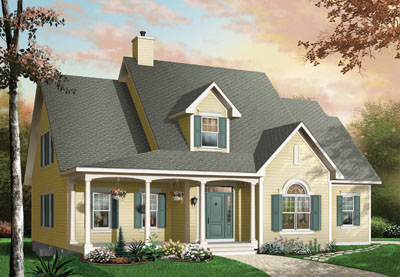 Traditional Style Home Design Plan: 5-291