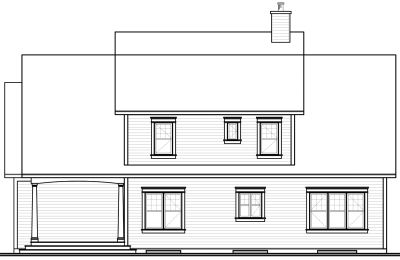 Rear Elevation Plan: 5-291
