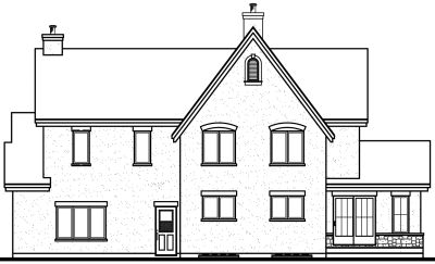 Rear Elevation Plan: 5-292