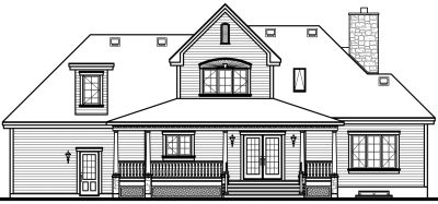 Rear Elevation Plan: 5-295