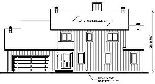 Rear Elevation Plan: 5-297