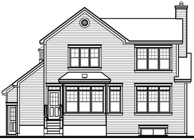 Rear Elevation Plan: 5-298