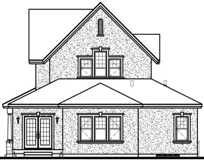 Rear Elevation Plan: 5-299