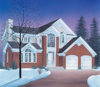 Traditional Style Home Design Plan: 5-300