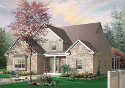 Traditional Style Home Design Plan: 5-301