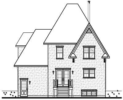 Rear Elevation Plan: 5-302
