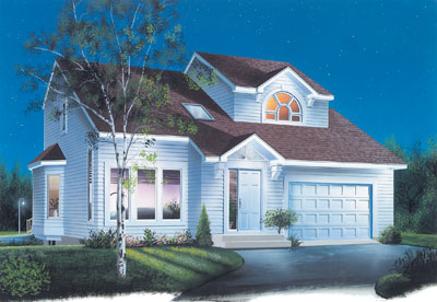Traditional Style Home Design Plan: 5-303