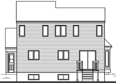 Rear Elevation Plan: 5-303