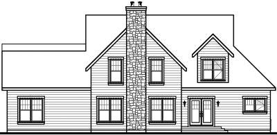 Rear Elevation Plan: 5-305