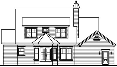 Rear Elevation Plan: 5-307