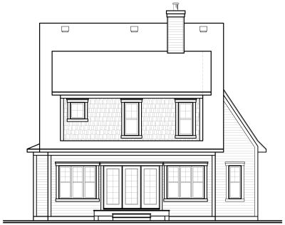 Rear Elevation Plan: 5-310