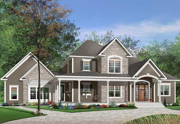 Country Style Home Design Plan: 5-311