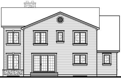 Rear Elevation Plan: 5-314