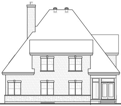 Rear Elevation Plan: 5-315