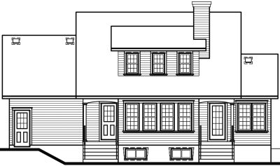 Rear Elevation Plan: 5-316