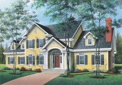 Colonial Style House Plans Plan: 5-317