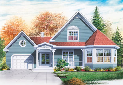 Country Style Home Design Plan: 5-318