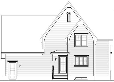 Rear Elevation Plan: 5-320