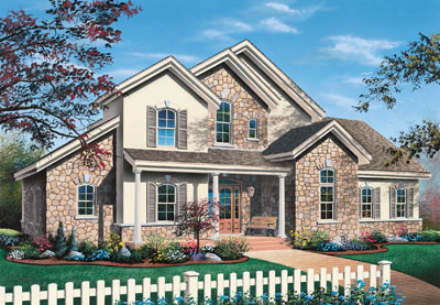 French-country Style House Plans Plan: 5-321
