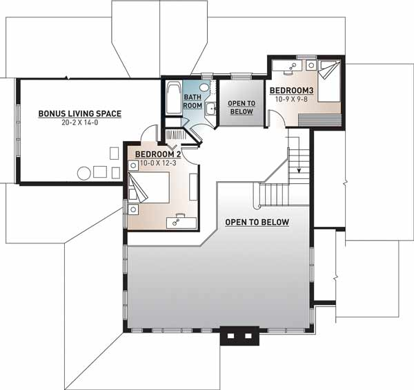 Upper/Second Floor Plan: 5-321