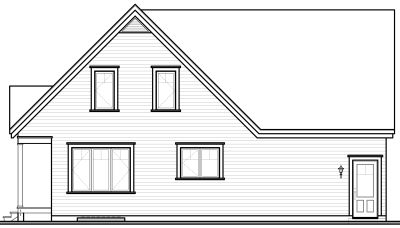 Rear Elevation Plan: 5-322