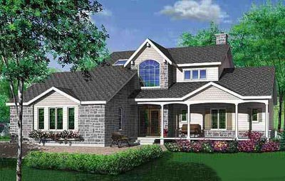 Traditional Style Home Design Plan: 5-323