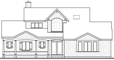 Rear Elevation Plan: 5-324