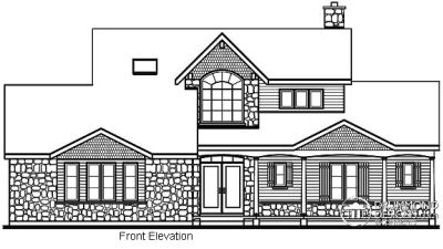 Rear Elevation Plan: 5-326