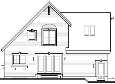 Rear Elevation Plan: 5-327