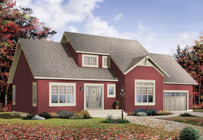 Traditional Style Home Design Plan: 5-329
