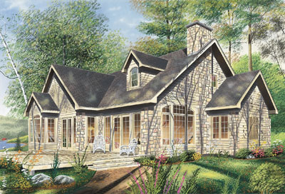 English-country Style Home Design Plan: 5-330